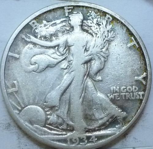 1934-D Very Fine Walking Liberty Half Dollar  ( 333 )