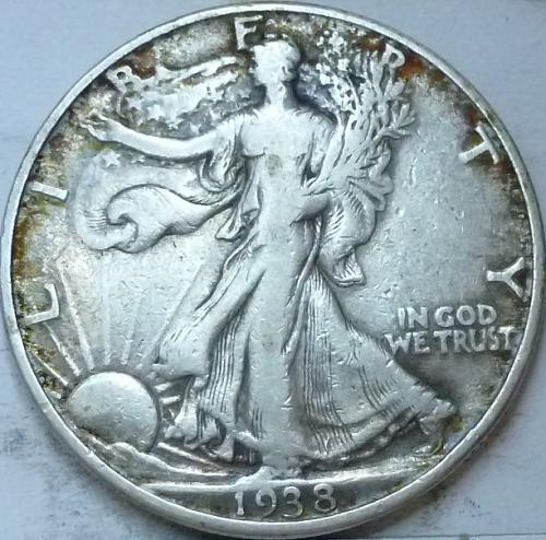 1938-P Extra Fine Walking Liberty Half Dollar  ( 344 )