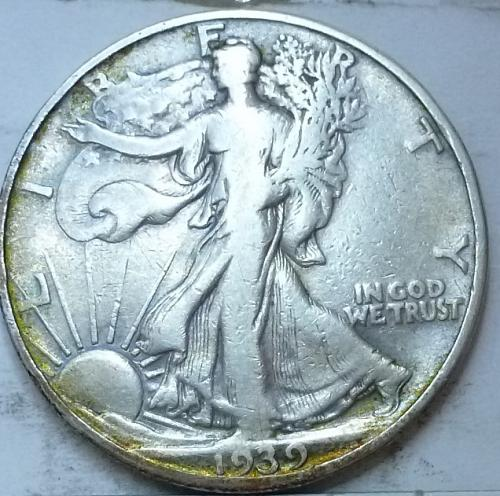 1939-D Extra Fine Walking Liberty Half Dollar  ( 346 )