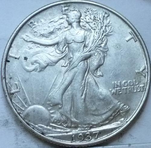 1937-P About Uncirculated Walking Liberty Half Dollar  ( 341 )