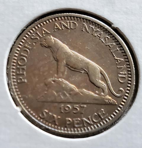 Rhodesia and Nyasaland - 1957 - 6 Pence - 0080