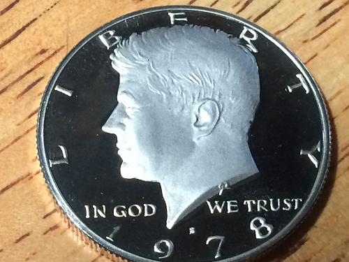 1978 s Kennedy Half Clad Proof #3