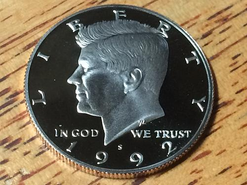 1992 s Kennedy Half Clad Proof #2