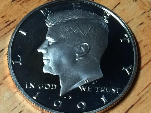 1991 s Kennedy Half Clad Proof