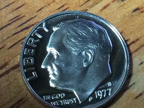 1977 S Roosevelt Dime Clad Proof