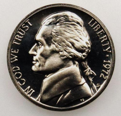 1972  S  PROOF  JEFFERSON NICKEL