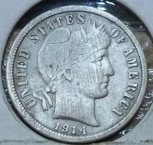 1914-P Grades Very Fine Barber Dime (310)