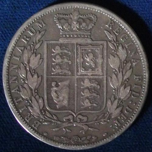 1885 Great Britain Half Crown Good