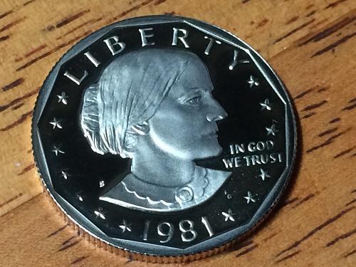 1981 S Susan B Anthony Dollar Proof