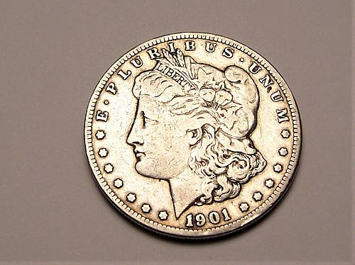 1901-O  MORGAN  SILVER  DOLLAR  >> F12 <<