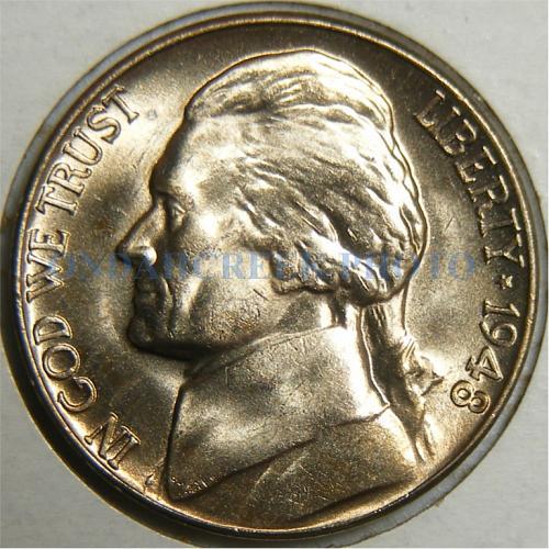 1948-D Jefferson Nickel RPM 2 CH BU