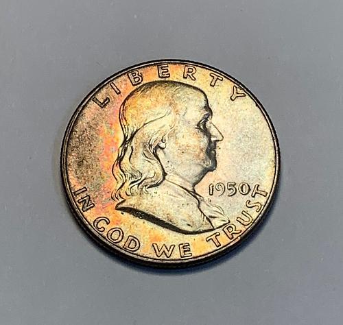 1950 Franklin Silver Half Dollar Toned [FH 24]