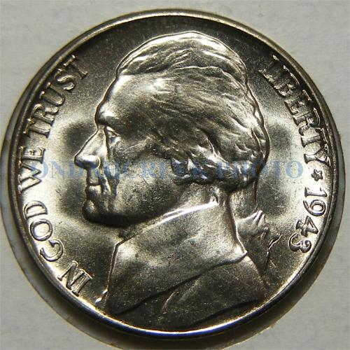 1943-S Jefferson Nickel Doubled Die Obv 008 CH BU