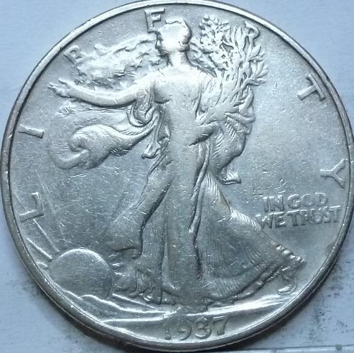 1937-P Fine Walking Liberty Half Dollar  ( 400 )
