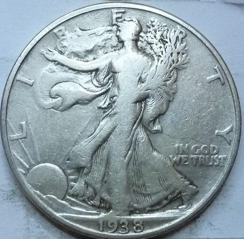 1938-P Fine Walking Liberty Half Dollar  ( 401 )
