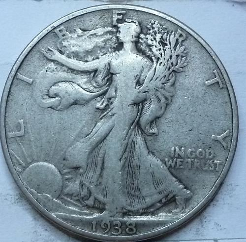 1938-P Very Fine Walking Liberty Half Dollar  ( 430 )