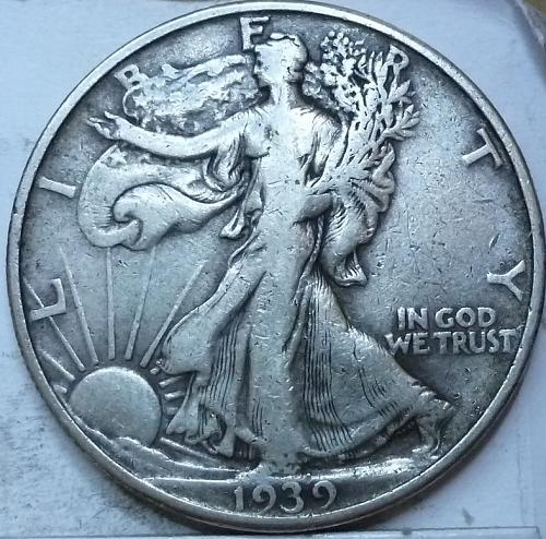 1939-D Very Fine Walking Liberty Half Dollar  ( 432 )