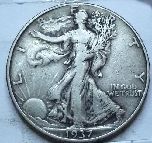 1937-P Extra Fine Walking Liberty Half Dollar  ( 443)