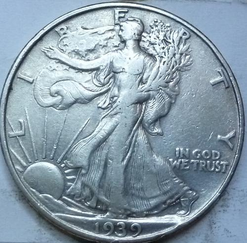 1939-P Extra Fine Walking Liberty Half Dollar  ( 405)