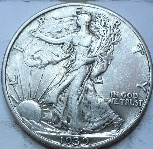 1939-P About Uncirculated Walking Liberty Half Dollar  ( 405 )