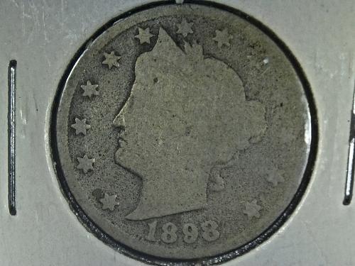 1898 P Liberty Nickel