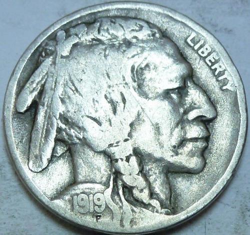 1919-S Full Fine Buffalo Nickel  (330 )