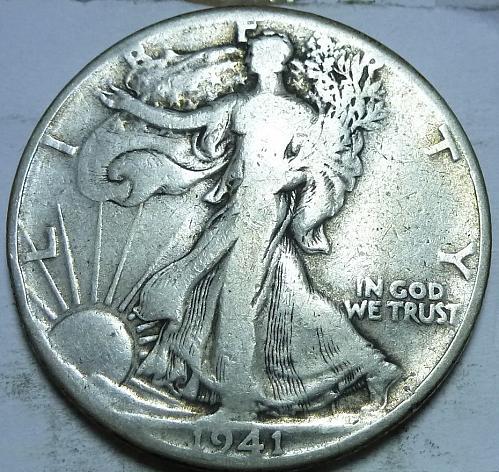 1941-P Very Good Walking Liberty Half Dollar  ( 409 )