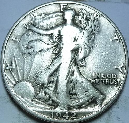 1942-D Fine Walking Liberty Half Dollar  ( 414 )