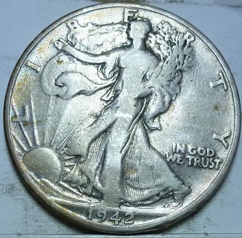 1942-S Fine Walking Liberty Half Dollar  ( 448 )