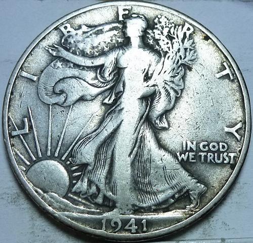 1941-D Very Fine Walking Liberty Half Dollar  ( 431 )