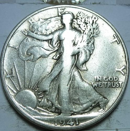 1941-S Very Fine Walking Liberty Half Dollar  ( 410 )