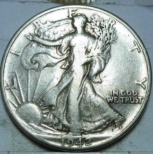 1942-P Very Fine Walking Liberty Half Dollar  ( 413 )