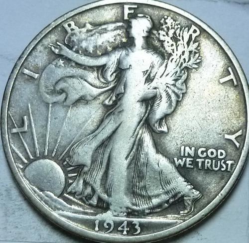 1943-S Extra Fine Walking Liberty Half Dollar  ( 439 )