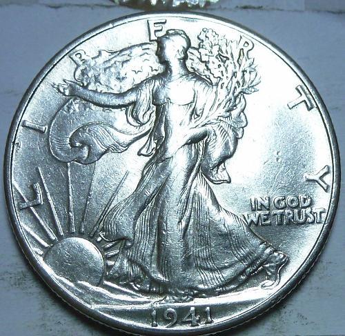 1941-P About Uncirculated Walking Liberty Half Dollar  ( 411 )