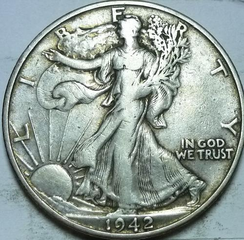 1942-S About Uncirculated Walking Liberty Half Dollar  ( 438 )