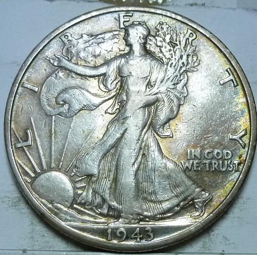 1943-D About Uncirculated Walking Liberty Half Dollar  ( 442 )
