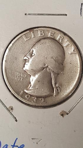 1932-S Washington Quarter, Key Date, VG