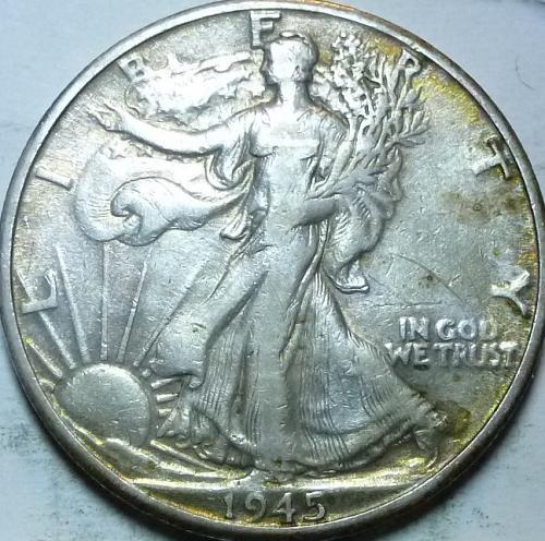 1945-D Extra Fine Walking Liberty Half Dollar  ( 435 )