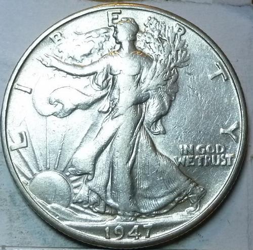 1947-D Extra Fine Walking Liberty Half Dollar  ( 429 )