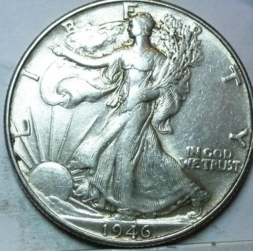 1946-P About Uncirculated Walking Liberty Half Dollar  ( 425 )