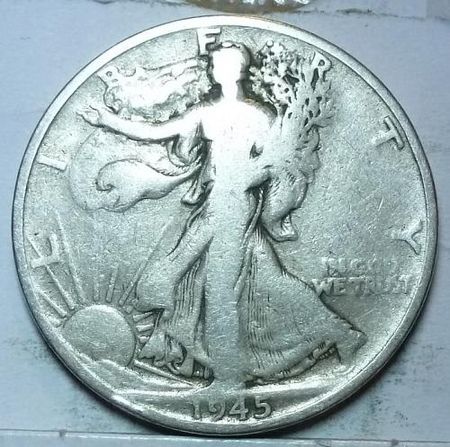 1945-S Fine Walking Liberty Half Dollar  ( 420 )