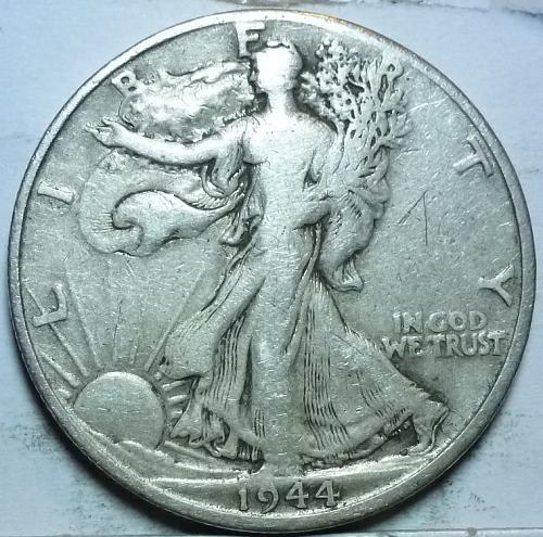1944-D Very Fine Walking Liberty Half Dollar  ( 418 )