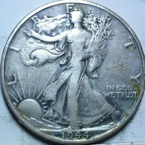 1944-D Very Fine Walking Liberty Half Dollar  ( 444 )