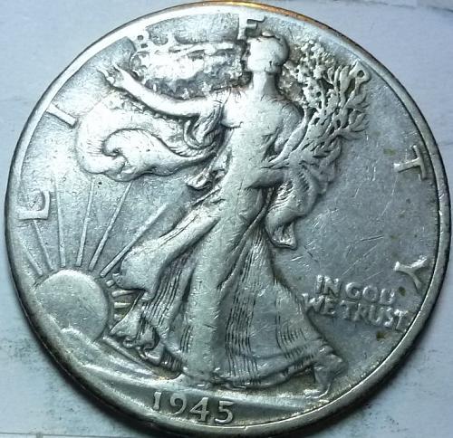 1945-D Very Fine Walking Liberty Half Dollar  ( 440 )