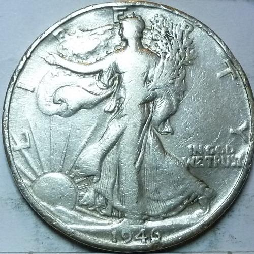 1946-D Very Fine Walking Liberty Half Dollar  ( 422 )
