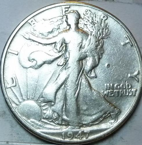 1947-D Very Fine Walking Liberty Half Dollar  ( 428 )