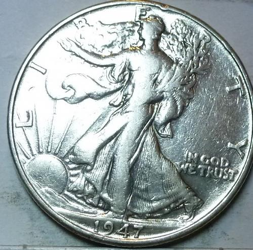 1947-P Very Fine Walking Liberty Half Dollar  ( 427 )