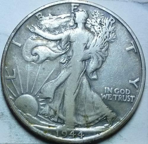 1944-S Very Fine Walking Liberty Half Dollar  ( 417 )