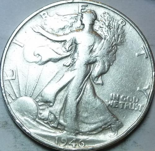 1946-S Very Fine Walking Liberty Half Dollar  ( 424 )