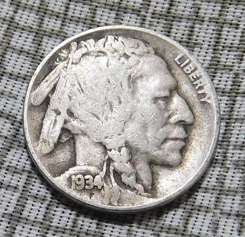 1934 D Buffalo//Indian Head Nickel